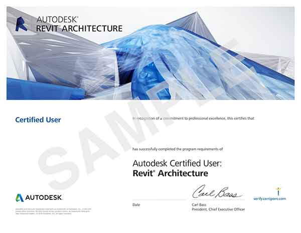 certificato-revit-user