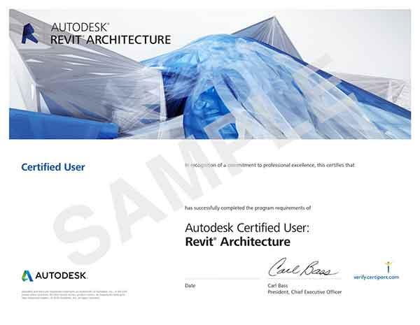 certificato-revit-user