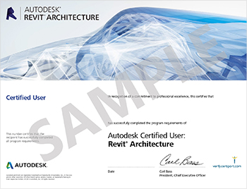 Autodesk_Revit_Architecture_Certified_User_Certificate_Sample