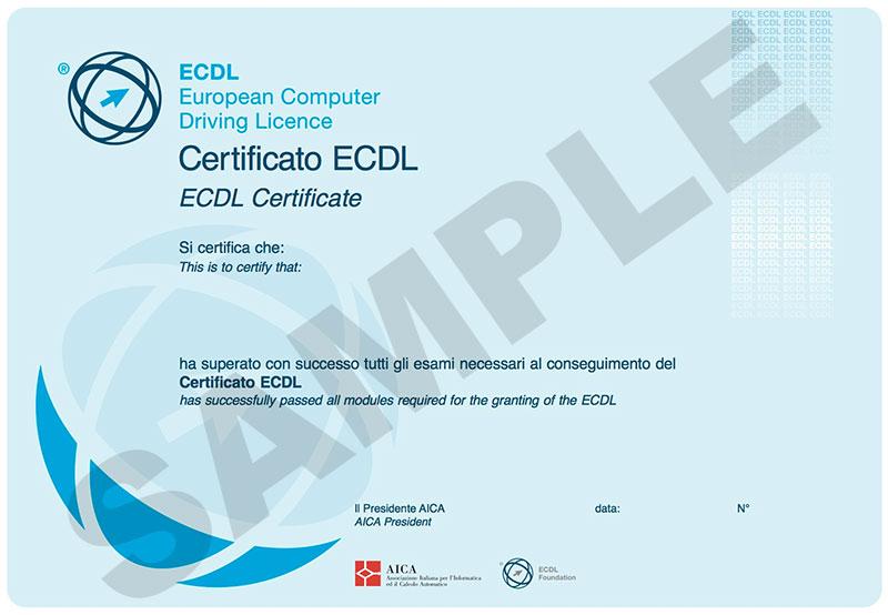 certificato ecdl